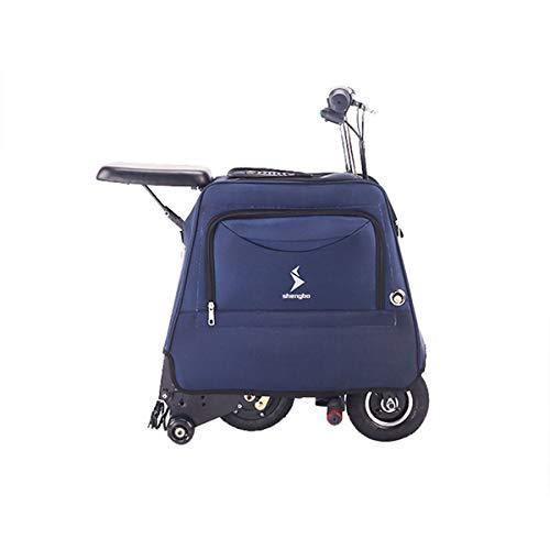 Dapang Scooter Elettrico, Batteria a Lungo Raggio da 25 km, Pneumatici riempiti d'Aria da 8'- Facile Trasporto con Piccola Valigia, Scooter Elettrico Adulto Ultraleggero,Blue