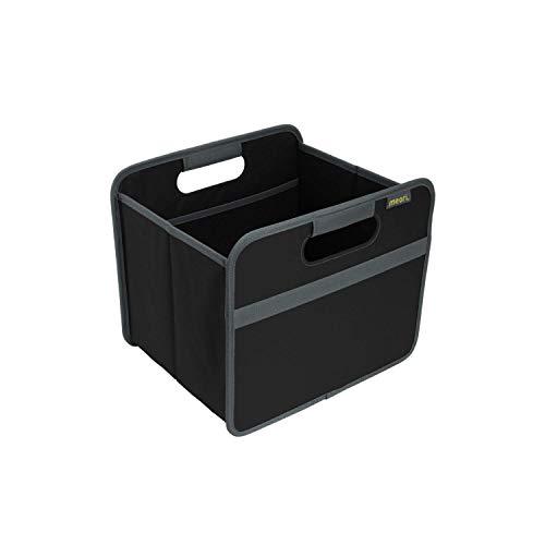 meori Schwarz Belastbar bis 30 kg Tragkraft-A100025-32 Small Stabile Klappbox S mit Griffen-perfekte Allzweck Aufbewahrungslösung-Tragkraft bis 30 kg-A100025-32 x 26,5 x 27,5 cm, Polyester, Faltbox