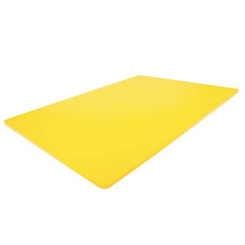 Professional Plastic Yellow Cutting Board, 24 x 18 Inch Extra Large, HDPE Poly for Restaurants, Dishwasher Safe for Chicken Poultry