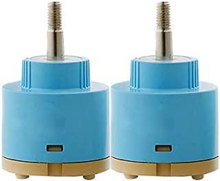 Wovier Replacement Single Handle Faucet 360 Degree Rotate Cartridge Ceramic Disc Valve 35mm Diameter (2 Pcs)