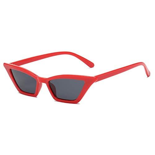 NJJX Gafas De Sol Vintage Para Mujer, Ojo De Gato, Gafas De Sol De Lujo, Retro, Pequeñas, Rojas, Gafas De Sol Para Mujer, Gafas De Moda, Rojo