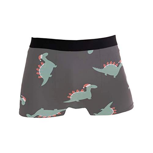 Elroy Gibbon Herren Boxershort Boxer Drucken Sie weiche Weihnachts-Dino-Feiertage Männer Unterhosen Unterwäsche,7,XL