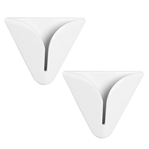 iDesign Self-Adhesive Dish Towel Holder for Kitchen - Pack of 2, White