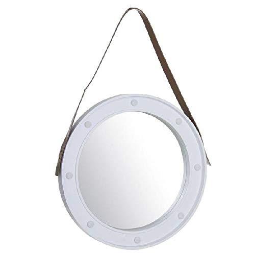 Dcasa Redondo Marco con Leds Espejos de Pared Muebles Pegatinas Decoración del hogar Unisex Adulto, Color, única
