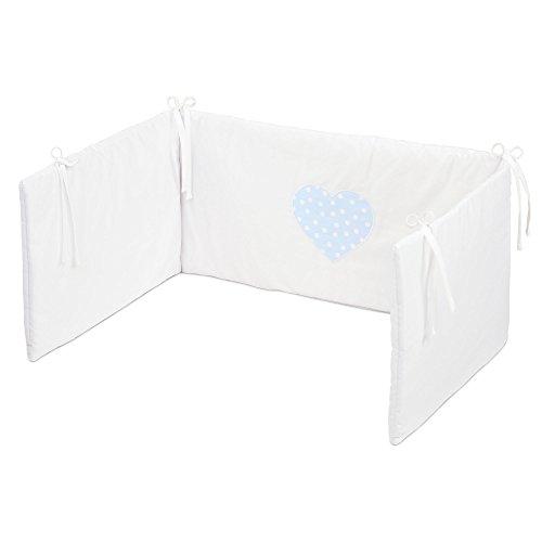 Babybay Lit Bébé Tour de lit piqué blanc applikaion Couronne perle)