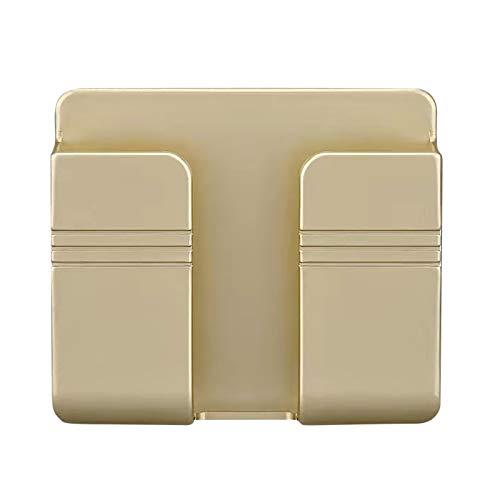 2PCS Handyhalter Wand Halterung Ladekabel Ständer Ladehalterung Handy Wandhalterung Handyhalterung Wall Phone Holder für Handys Halter Fernbedienung, 99x86x30mm (Gold)
