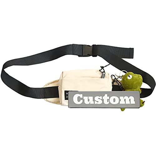 Nombre personalizado Nombre personalizado Sling Sling Bolso de hombro para la bolsa de eslinga USB para niña (Color : Off White, Size : One size)