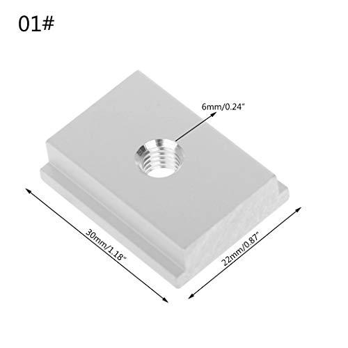 JOYKK M6 T-slot T-Slider Schuifmoer Voor Houtbewerking Gereedschap Slot Bevestiging Pruiken Persplaat - Zilver
