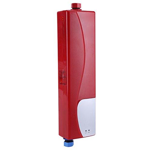 MAVIS LAVEN Calentador De Agua - 220V 3000W Mini Sin Tanque Electrico Calentador De Agua Caliente Instantaneo Bano Cocina Lavado Enchufe De La UE(Rojo)