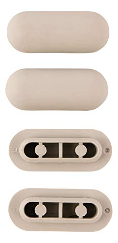 SITZPLATZ® WC-Sitz Ringpuffer Nr. 66 | Auflagestopfen für Toilettensitz | Abstandhalter für WC-Brille | Dämpfer | Grau| Kunststoff | 4er Set | 64506 5