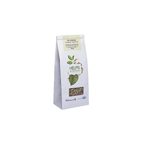 HELPS INFUSIONES - Té Verde A Granel 100% Natural. Infusión Diurética, Antioxidante, Quemagrasas. Bolsa A Granel De 100 Gramos