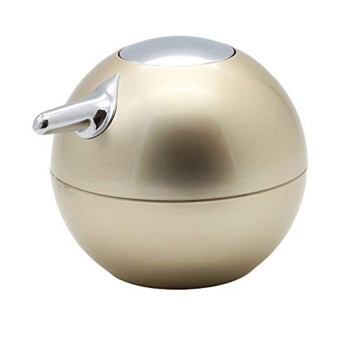 Tragbare Seifenspender Kreative Druck Hand Bad Kunststoff Praktische Shampoo Duschgel Container Halter (Color : Champagne Gold)