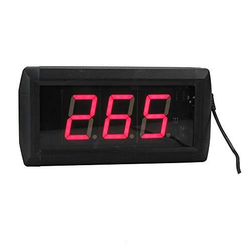 WyaengHai Countdown-Uhr Delay-Timer Countdown-Digitaluhr Mit Einer Großen Trainingszeittakt Fernbedienung Geeignet für Fitness-Studio Fitness (Farbe : Schwarz, Größe : 10X19X4CM)