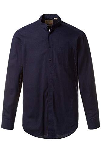 JP 1880 708636 Camicia da uomo in misto cotone e lino, con colletto alto, taschino sul petto e vestibilità moderna, disponibile fino alla taglia 8XL Blu (Navy 70863670) XXXXXL