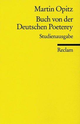 Buch von der Deutschen Poeterey.