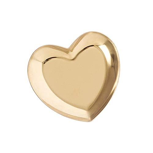 GYDSSH Bandeja en Forma de corazón de la joyería, diseño Lindo, Estable y Duradera, de Buen Gusto, Que se Utiliza for Poner la joyería