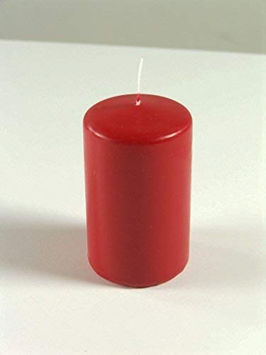 E+N Deko Bougie Pilier Rouge Rubis 200 x 80 mm