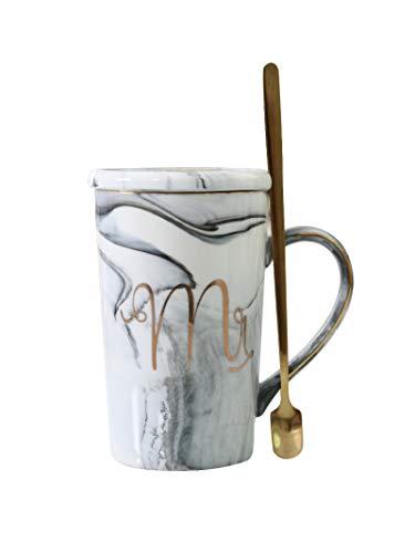 Taza De Cerámica De Separación De Agua De Té Nórdico Ins Con Tapa Cuchara Taza De Pareja Taza De Filtro De Taza De Té De Oficina Simple