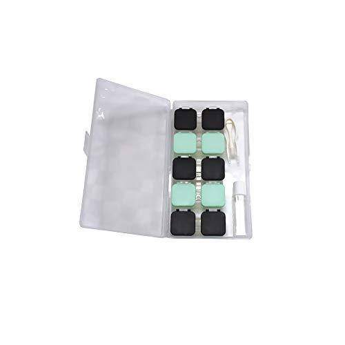 GLLP Pulse el botón de Concha Tipo de Caja de Lente de Contacto de múltiples Pares de Color sólido portátil Companion Caja de Almacenamiento (Color : 5C)