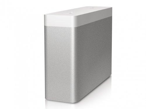 Buffalo SSD-WA512T-EU DriveStation Mini externe Festplatte 512GB (6,3 cm (2,5 Zoll), 2x Thunderbolt, USB 3.0) silber/weiß