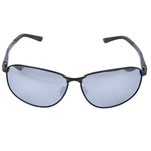 DAUERHAFT Polarisierte Sonnenbrille wasserdichte und ölbeständige Nachtsichtbrille Herren Sonnenbrille zum Schutz der Augen, geeignet für Männer(Gun Frame Ice Blue Film)