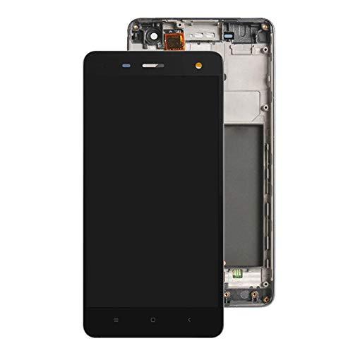 Pantalla LCD original para Xiaomi Mi 4 M4 Mi4 Pantalla LCD + Pantalla táctil digitalizador Asamblea con reemplazo de marco para Xiaomi Mi4 LCD Pantalla táctil (Color: Negro con marco) replacemen