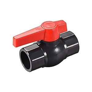 Válvula de bola de mapa, válvula de 1 pulgada de deslizamiento de PVC para configuración de acuario, bomba de sumidero, piscina, rociador de jardín gris oscuro rojo 1 pieza