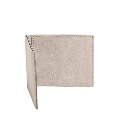 FRITZVOLD MINIMAL Wallet mit Münzfach, kleines, dünnes Portemonnaie für Damen & Herren, extrem Flacher Geldbeutel, Slim Portmonee, Geldbörse aus waschbarem Papier-Kunstleder, grau