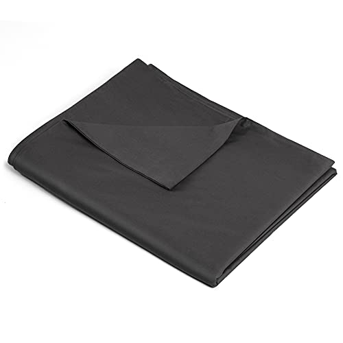 ATsense Duvet Cover for Weighted Blanket, 100% Natural Cotton, Weighted Blanket Cover 48x72 inches with 8 Ties, Ultra Soft and Easy Care. ( Dark Grey )
