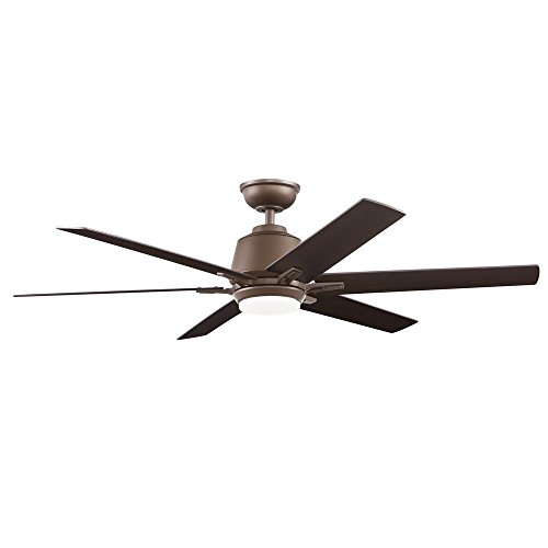 Home Decorators Collection Kensgrove 54 in. Integrated LED Indoor Espresso Bronze Ceiling Fan with Light Kit and Remote Control