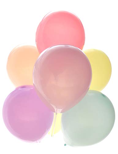 Chailert Balloon: 10 inch Macaron Color/Pastel Color Latex Balloon for Party Decoration 100 Pieces Packing Macaron Color