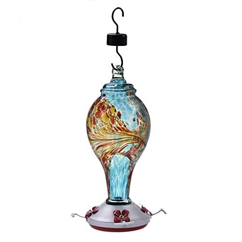 Yousiju Alimentador de pájaros, alimentador de colibrí de Vidrio, estación de alimentación de pájaros, contenedor de Comida para jardín, Patio al Aire Libre, Gran Oferta