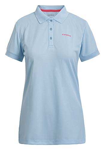 Icepeak Kassidy Polo Shirt Femme, Baby Blue, FR : L (Taille Fabricant : L)