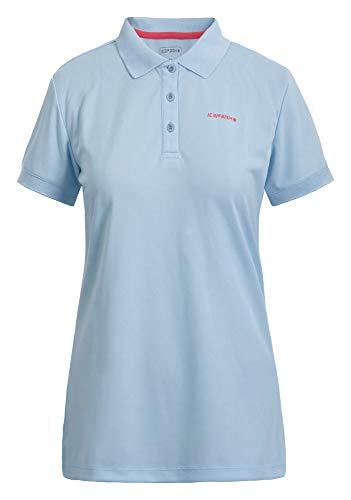 Icepeak Damen Polo Shirt Kassidy, eisblau, L, 554631590I