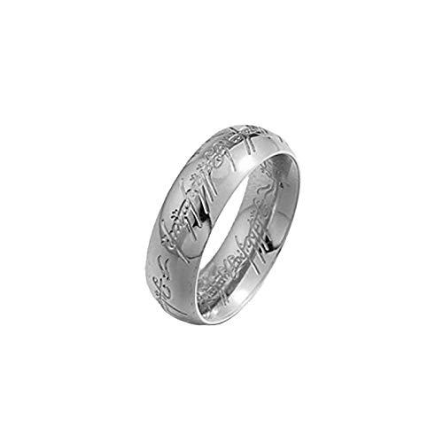 CRYPIN Anello di Laurea con Incisione Tridimensionale in Acciaio Inossidabile, Anello di Fidanzamento per Anniversario di Matrimonio