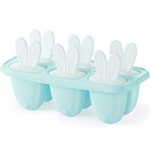 Eisformen, 6 Eisform Eis am Stiel, Klein Eisförmchen Popsicle Formen, Stieleisformer Eislutscher Formen, Mini Eisform für Kinder, Baby, BPA frei