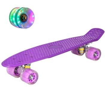N/V 22inch Fish Board Mini Cruiser Skateboard Children Scooter Longboard Skate Boards Retro Penny Board Wheel Truck Bearings (???)