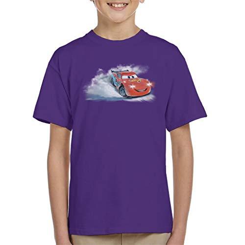 Disney Christmas Cars Lightning Mcqueen Snowy Skid Kid's T-Shirt