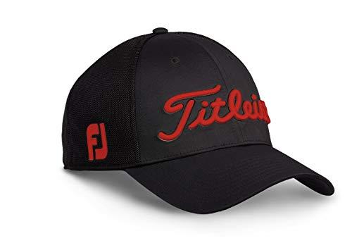 TITLEIST Tour Sports Staff Casquette de Baseball, Negro/Rojo, M/L Homme