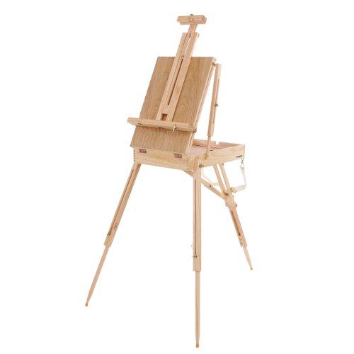 chevalet de Peintre Pliable en Coffre pour Atelier et extérieur, chevalet de Table