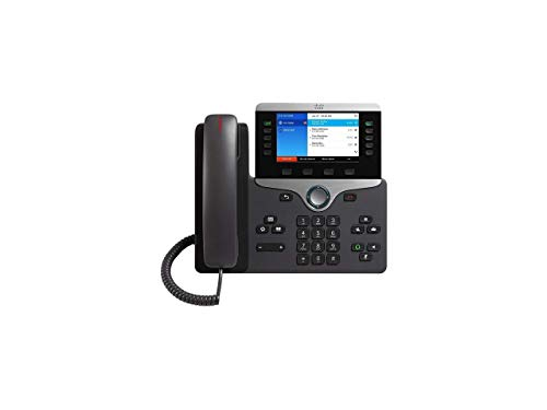 Price comparison product image Cisco IP Phone 8841 with Multi-Platform Phone Firmware,  5-inch Grayscale Display,  Gigabit Ethernet Switch,  Class 2 PoE (CP-8841-3PW-NA-K9=)