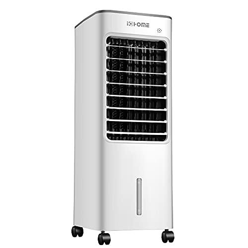 i@HOME Mobile Klimagerät mit 6L-Wassertank 4 In 1 Klimageräte:Luftkühler Ventilator Luftbefeuchter & Luftreiniger 280m³/min Oszillation Weiß [Energieklasse A]