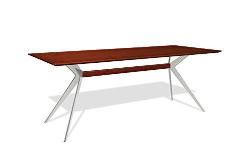 de Milan Gazel L210 tavolo da pranzo di design (marrone, legno di mogano)