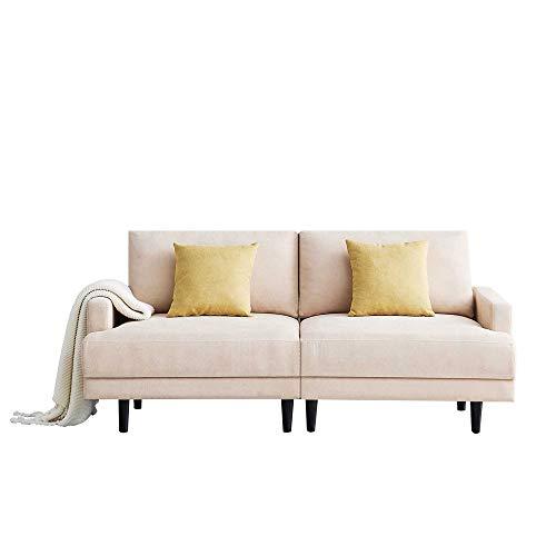 WYLZLIY-Home Sofá Cama Sofa Sofá De Tejido Moderno Sofá con Marco De Madera Maciza Cómodo 2 Plazas De Sofá para Sala De Estar