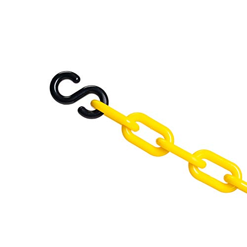 Plastic decorative safety security chain 10FT, Crowd Control Center (YELLOW+S HOOKS)
