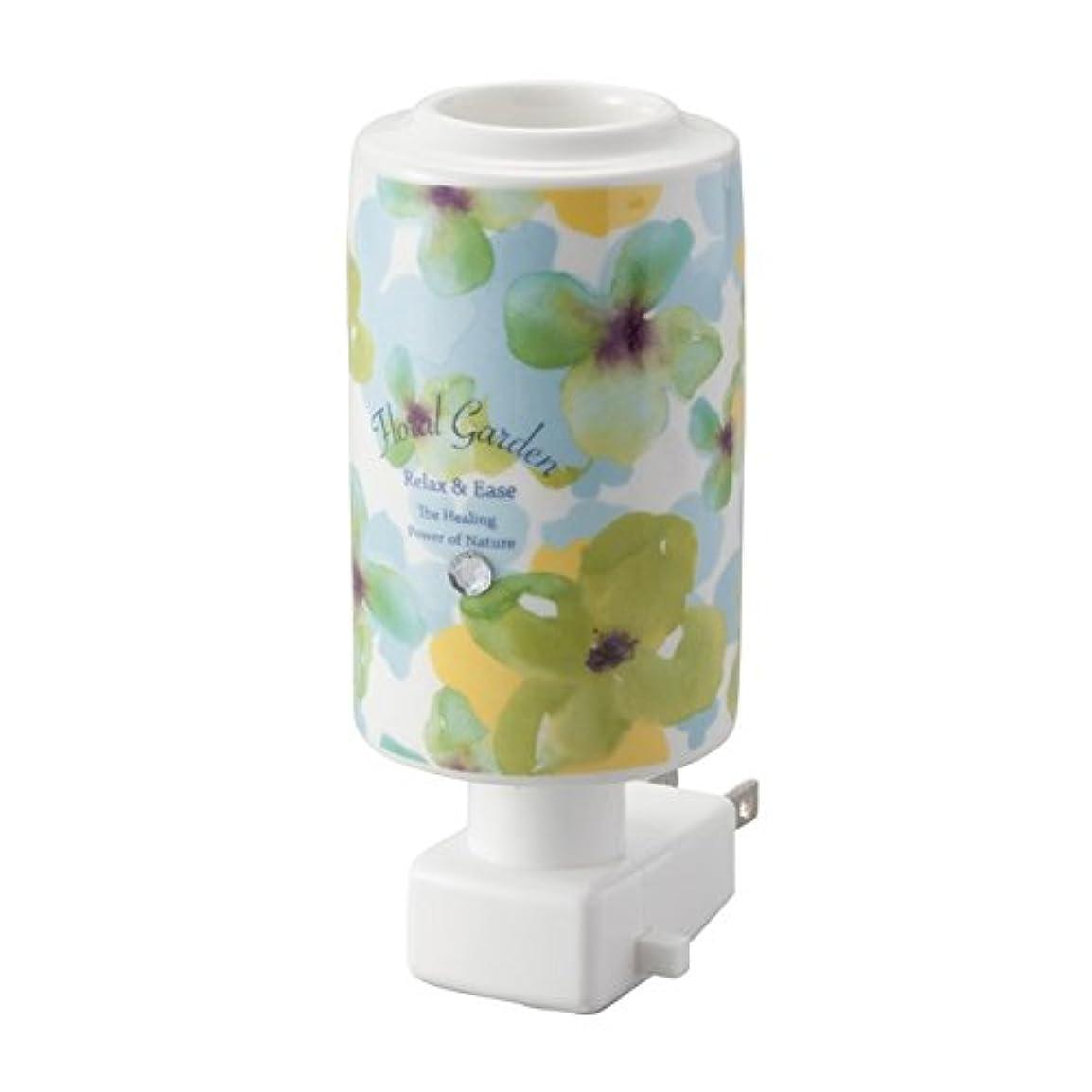 はちみつ乳製品刺激するアロマグッズ セラミックアロマライトコンセント型【5個セット】フローラルグリーン