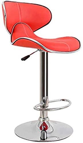 JYHJ Nuevo taburete giratorio silla de oficina, silla de ordenador, silla de salón, silla de bar, taburete giratorio, altura ajustable, silla de oficina, 2 colores (color: marrón)