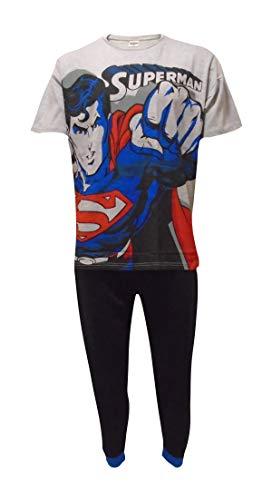 Mens DC Superman Pyjamas 31543 Black/Grey Large