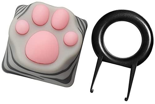 ZOMOPLUS Cute Cat Paw Keycap,Squishy Paw Custom Keycap-1pc Keycap for Mechanical Keyboard,Suitable for Cherry MX/Gateron Switches-ESC Key Keycap (American Shorthair)