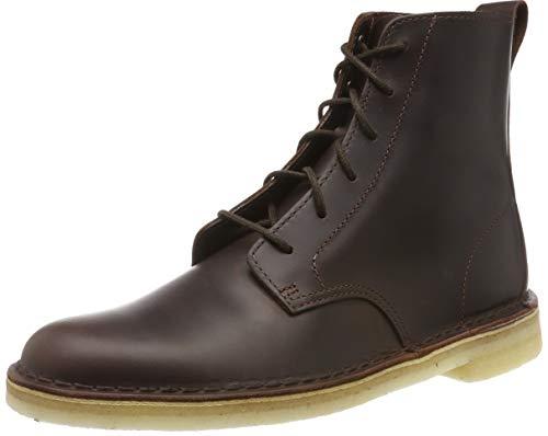 Clarks Originals Herren Desert Mali Biker Boots, Braun (Chestnut Leather Chestnut Leather), 43 EU